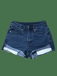 Cutoffs Denim Shorts - Deep Blue Xs
