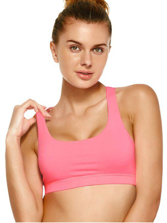 women's Strappy Crossover Sports Bra - PAPAYA M
