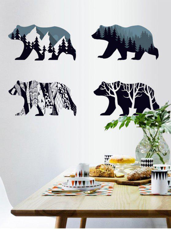 إزالة شجرة الدب الجدار ملصق - ازرق غامق 60 * 90CM