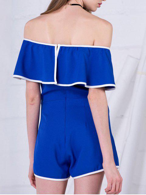 Combinaison cape épaules dénudés - Bleu S Mobile