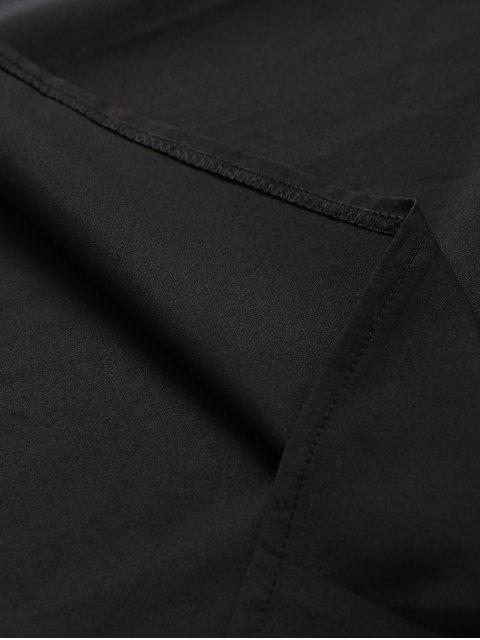 lady Slip Lace Embroidered Rose Applique Dress - BLACK S Mobile