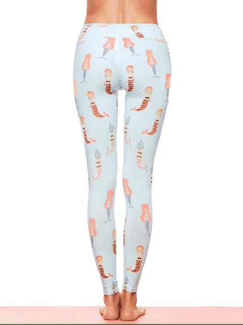 outfit Cartoon Mermaid Print Stirrup Leggings -   Mobile