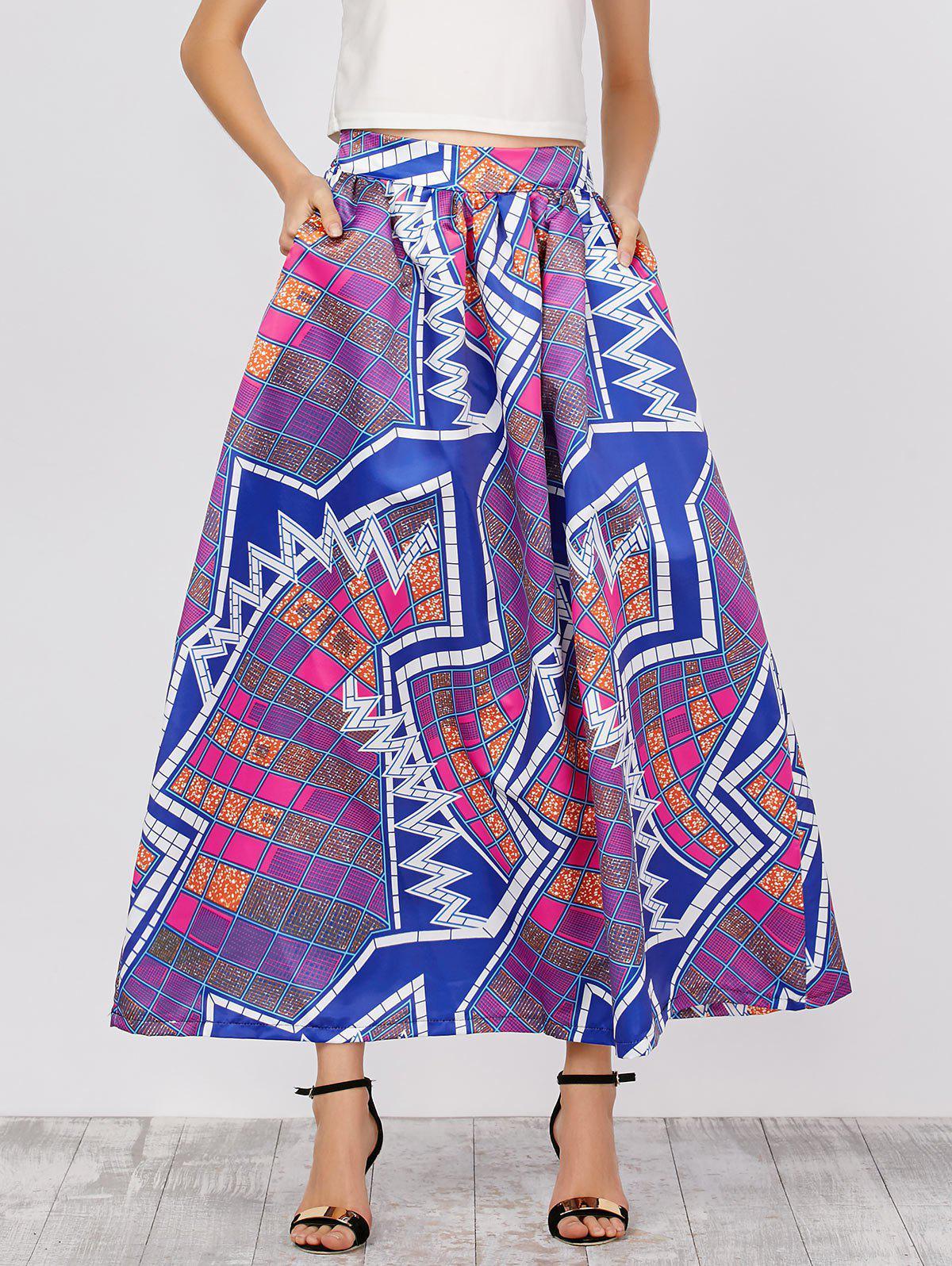 Taille haute Jupes Imprimer africaine