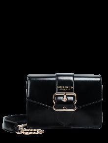 مشبك حزام الصليب الجسم سلسلة حقيبة - أسود