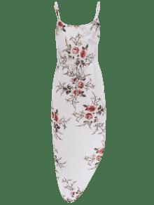 Vestido De Cintura Finos Vacaci Blanco Cord S Floral 243;n De Con 243;n Asim En Tirantes 233;trico fwxfnqAr
