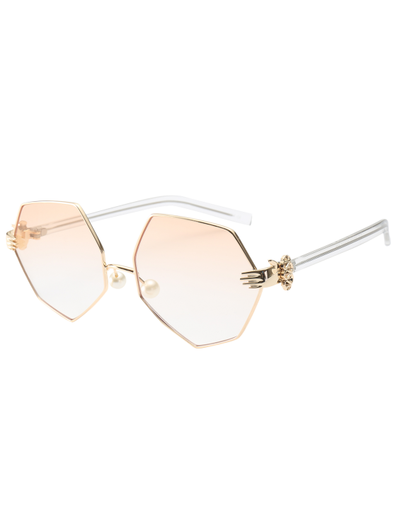 Faux Pérola Nose Pad Sunglasses geométricas - Pérola Rosa Claro