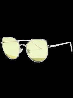 Lunettes Solaires Anti-UV En Forme D'Œil De Chat - Jaune