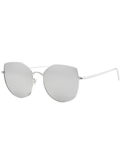 Cat Eye Anti UV Sunglasses - Silver