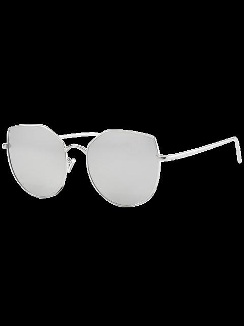 Katzenauge Anti UV Sonnenbrille - Silber  Mobile