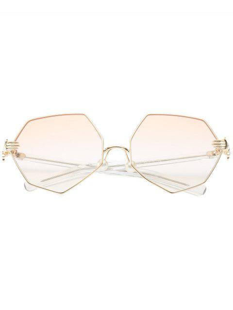chic Faux Pearl Nose Pad Geometric Sunglasses - PEARL LIGHT PINK  Mobile