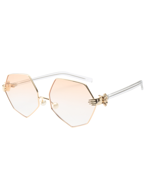 Geometrische Sonnenbrillen mit künstlichen Perlen an der  Nase - Perle Hell Rosa  Mobile