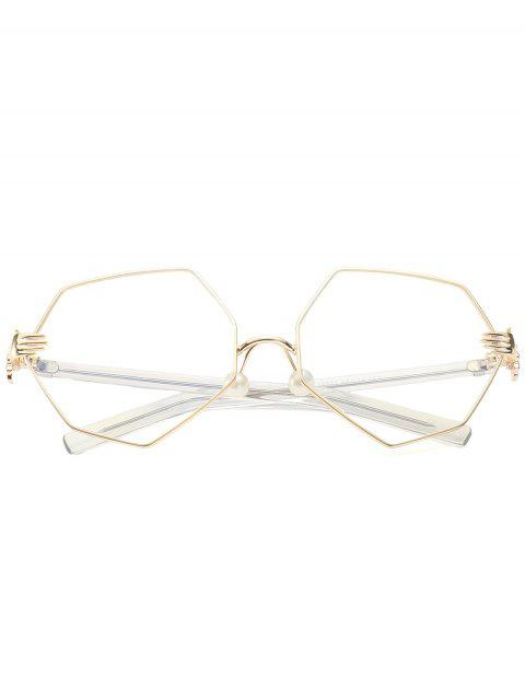 fancy Faux Pearl Nose Pad Geometric Sunglasses - WHITE  Mobile