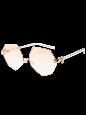 Imitación De La Perla De La Nariz Pad Gafas De Sol Geométricas - Perla Rosa Claro