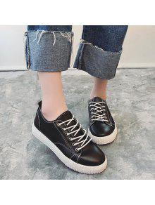بو الجلود خياطة أحذية رياضية - أسود 38
