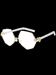 Faux Pearl Nose Pad Geometric Sunglasses - White