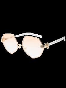 Faux Pearl Nose Pad Geometric Sunglasses - Pearl Light Pink
