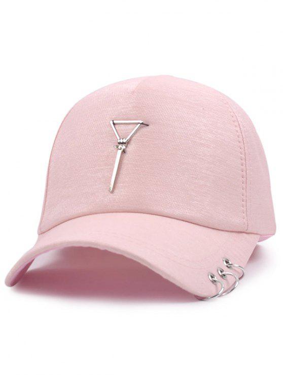 المعادن دائرة مثلث قلادة البيسبول قبعة - زهري