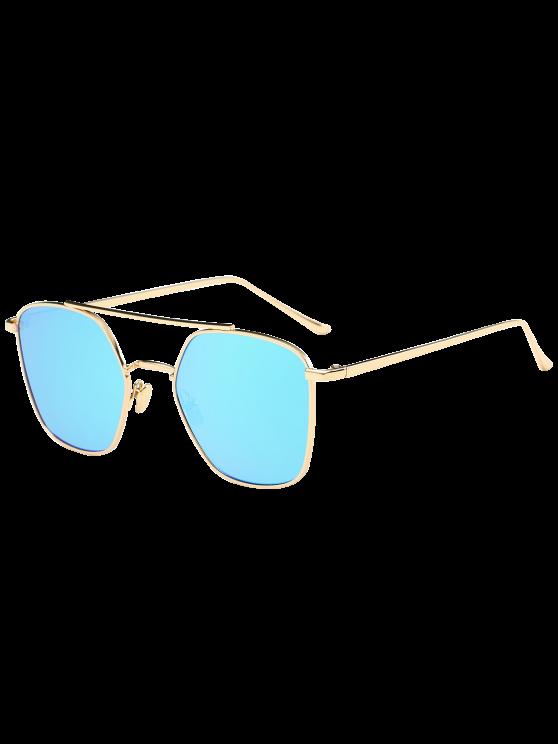 مرآة عاكسة هندسية معدنية عيار النظارات الشمسية - جول الإطار + أزرق عدسة