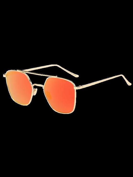 مرآة عاكسة هندسية معدنية عيار النظارات الشمسية - GLOD الإطار + برتقالي عدسة