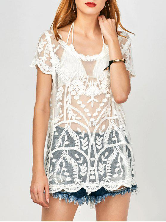 Couvercle Scalloped See-Through - Blanc TAILLE MOYENNE