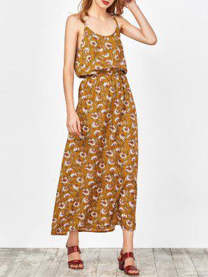 Maxi Vestido Floral De Playa - Jengibre Xl