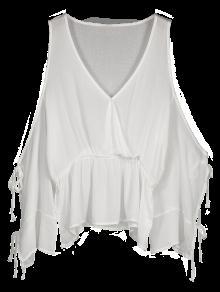 Top De Blusas Sobrepostas - Branco L