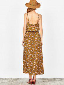 533223bcd3b 41% OFF  2019 Beach Floral Maxi Dress In GINGER