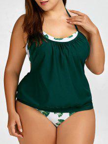 ملابس السباحة تنكيني الحجم الكبير - 3xl