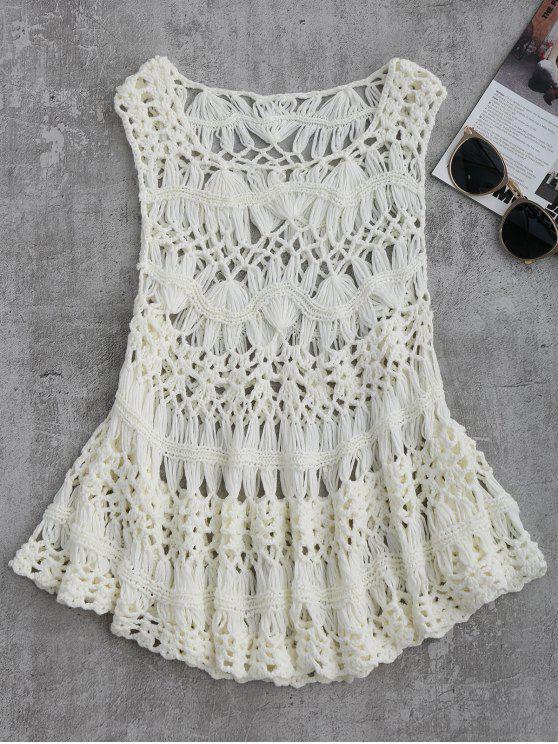 Corte Crochet Cover Up - Branco M