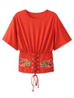 Kimono Lined Up Top - Rouge M