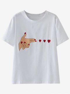 Camiseta Remendada Linda - Blanco