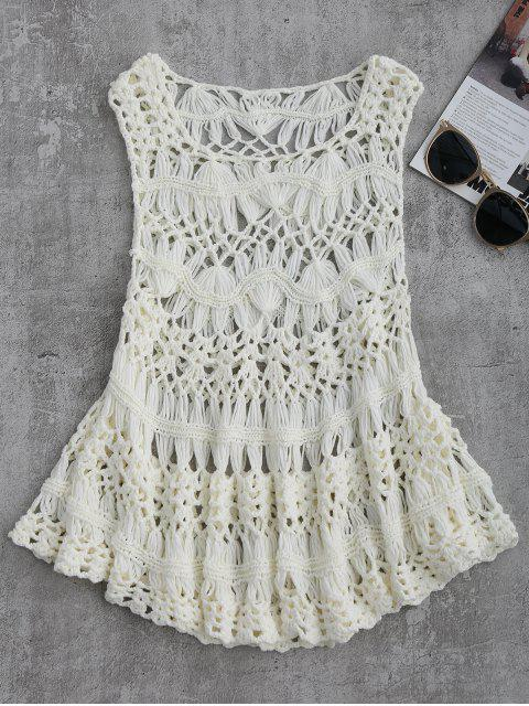 Recorte Crochet Cover Up - Blanco M Mobile
