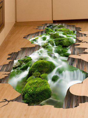 3D Stream Removable Floor Sticker