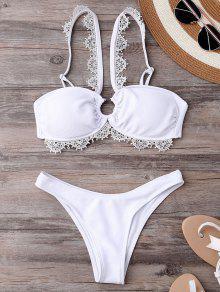 Ensemble Bikini De Mariée Mariage à Lanières - Blanc L