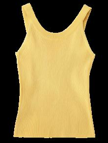 ... High Neckline Knitted Tank Top ...