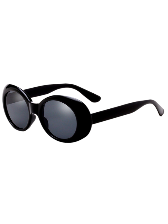 Ovali Retro anti UV Sunglasses frangivento - Nero