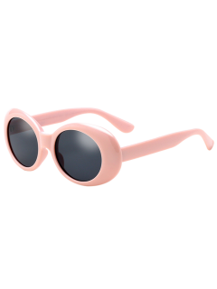Oval Retro Anti UV Windbreak Sunglasses - Pink
