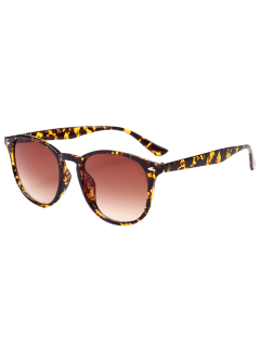 Anti UV Affordable Polarized Mirrored Wayfarer Sunglasses - Leopard+ Double Dark Brown