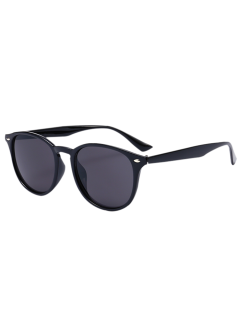 Anti UV Affordable Polarized Mirrored Wayfarer Sunglasses - Black Frame + Black Lens