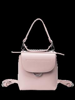 Metal Ring Chain Handbag - Pink