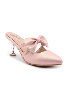 Strange Style Faux Leather Slippers - Pink 39