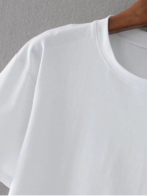 shops Cotton Embroidered T-Shirt - WHITE L Mobile