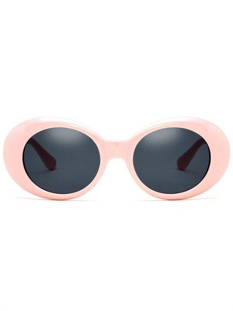 latest Oval Retro Anti UV Windbreak Sunglasses - PINK  Mobile