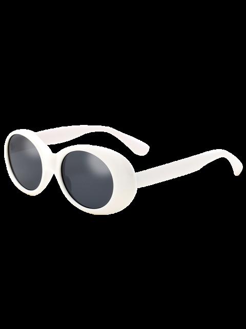 Lunettes Solaires Ovales Rétro Anti UV et Brise-Vent - Blanc  Mobile