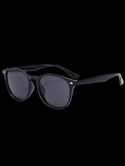 Anti UV Street Snap Mirrored Lunettes de soleil - Noir Cadre + Objectifs Noir  Mobile