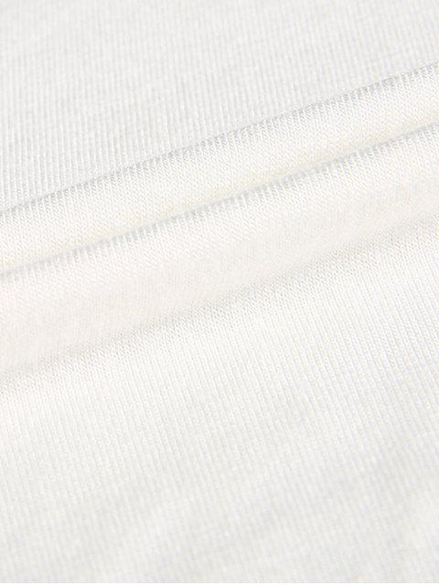 trendy Plunge Neck Dolman Sleeve Shirred Blouse - WHITE XL Mobile