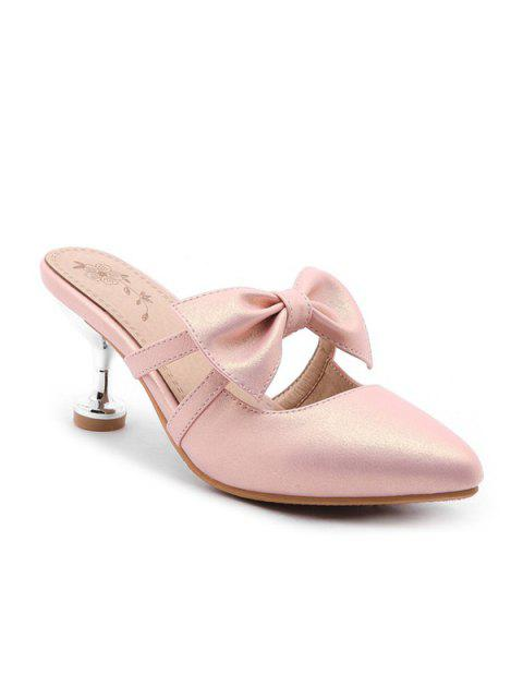 chic Strange Heel Mules Shoes with Bow -   Mobile