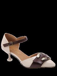 أحذية غريب أسلوب الشريط كلاسيكية معدنية - مشمش 38