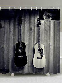 خمر ستارة الحمام مع الغيتار طباعة - الرمادي العميق W71inch * L71inch