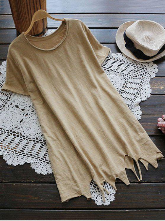 T-shirt à tunique manches courtes à manches courtes - Kaki TAILLE MOYENNE